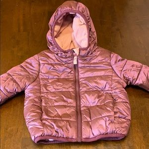 Cute Girl's Puffer Jacket Size 12 Months